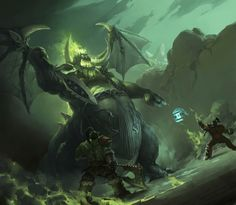 Thrall & Grom Vs. Mannoroth