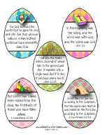 Easter Bible Verse Printables for Kids
