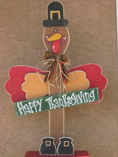 Wood turkey cute for Thanksgiving