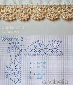Crochet Border Patterns, Crochet Motifs, Granny Square Crochet Pattern, Crochet Diagram, Crochet Toys Patterns, Crochet Stitches, Knitting Patterns, Crochet Flowers, Crochet Lace