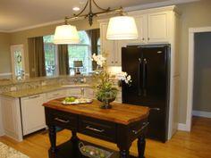 small island open kitchen