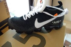 ru offers the best quality UA Nike Air Vapormax FK Off White Virgil Sneaker for sale, the most trusted UA Air Vapormax Flyknit sneakers seller in the market. Sneakers For Sale, Sneakers Nike, Sneakers Fashion, Fashion Shoes, Off White Virgil Abloh, Nike Vapormax Flyknit, Nike Air Vapormax, Kicks, Pairs