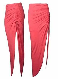 LADIES RUCHED SIDE SPLIT SLIT MAXI SKIRT DRESS SIZE 8-14 (coral) Juliet's Kiss, To SEE or BUY just CLICK on AMAZON right HERE http://www.amazon.com/dp/B00HIN093U/ref=cm_sw_r_pi_dp_-lZktb17358SSPHH