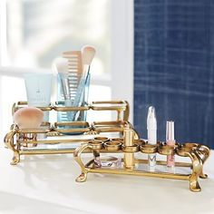 Karina Beauty Storage Gold Vintage Makeup Organization #pbteen