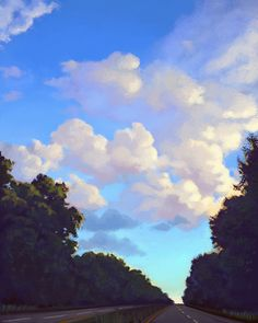 CLOUD PAINTINGS by Courtney Autumn Martin, via Behance