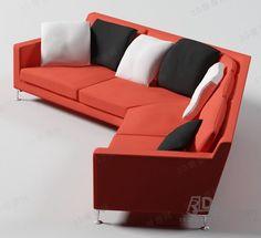 多人沙发3d模型(92189)