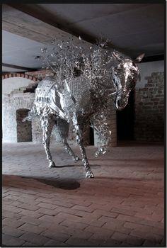 Aluminum Foil Sculptures Toshihiko Mitsuya