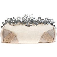 Mistolinio Frame Clutch - Neutral (€1.580) ❤ liked on Polyvore featuring bags, handbags, clutches, bolsas, prada, women, main floor bags, hand bags, handbag purse and prada pochette