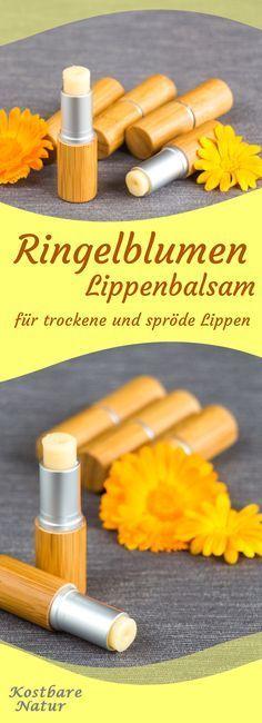 Wenn du sehr trockene und spröde Lippen hast, dann probier doch mal den heilenden Lippenbalsam mit Ringelblumen.