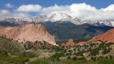 Pikes Peak (14,000 ft. elev.) and Garden of the Gods, Colorado Springs, CO - it's home!