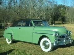 1949 Plymouth Special Deluxe Convertible Maintenance/restoration of old/vintage vehicles: the material for new cogs/casters/gears/pads could be cast polyamide which I (Cast polyamide) can produce. My contact: tatjana.alic@windowslive.com