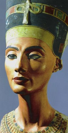 Nefertiti, wife of Akhenaton. The sculpture was made by the famous sculptor Thutmose and was found in his workshop. Country of Origin: Egypt. Culture: Ancient Egyptian. Date/Period: Amarna period c.1373-1357 BC. Nefertity was often called the ''most beutiful women in the world''