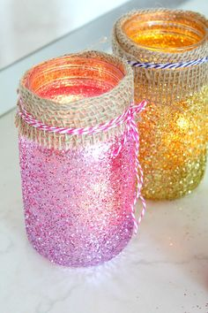 These super easy and simple but oh, so gorgeous DIY jar luminaries are a great decor idea for weddings, holidays, Christmas, or even a party!