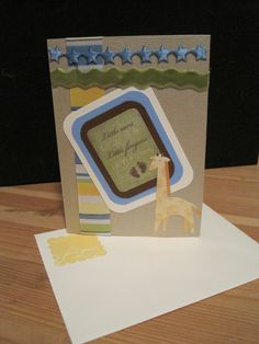 A handmade baby shower card I made for a precious baby boy. (sevengnomes)