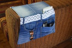 Attrayant Denim Sofa Organizer Remote Control Organizer By PrettyMarry