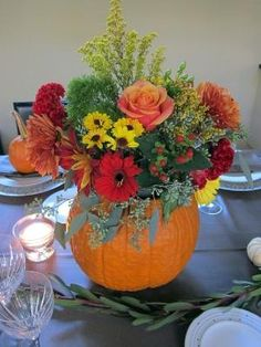 Pumpkin Fall Event Decor - decorate with nature's materials by allyson