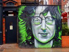 Art Made by John Lennon | LONDON STREET ART: JOHN LENNON by GNASHER