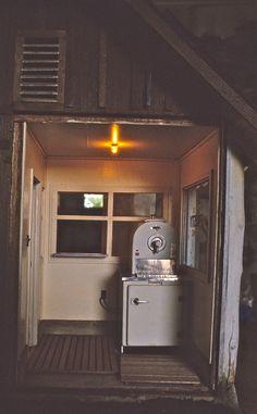 Frosty machine viewed from inside - smallhousepress