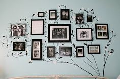When I'll get the chance once - a family tree. Photo display with hand-painted tree