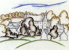 Landschaft mit Schloß Antfeld im Sauerland by Walter Ophey
