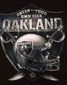 Check out all our Oakland Raiders merchandise! Oakland Raiders Logo, Okland Raiders, Raiders Pics, Raiders Helmet, Raiders Stuff, Raiders Baby, Raiders Players, Oakland Athletics, Oakland Raiders Wallpapers