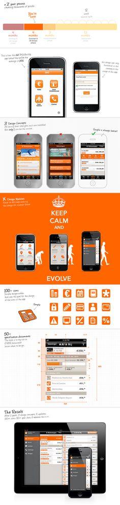 ING Mobile Banking app by Marjan Lemmens, via Behance
