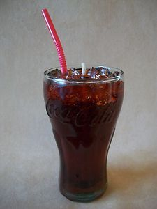 6 Oz Cola Scented Gel Candle With Ice In Coca-Cola Glass, Made In The USA!, NEW! $6.99