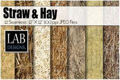 12 Straw & Hay Seamless Textures. Textures. $6.00