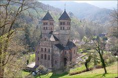 Vue de l'abbaye de Murbach