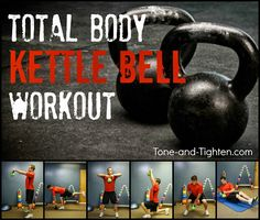 Amazing total body workout with one simple piece of equipment. Get your kettle bell on with Tone-and-Tighten.com #workout #fitness
