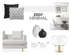 """""""EDGY MINIMAL"""" by canvas-moods ❤ liked on Polyvore featuring interior, interiors, interior design, home, home decor, interior decorating, CB2, Vue and contemporary"""