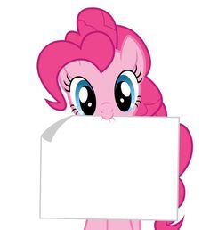 MLP my little pony pinkie pie holding blank sign Welcome
