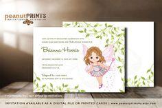 Fairy Garden Birthday Party Invitation by PeanutPRINTS4u