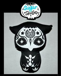 Sugar Skull Toy  Day of the Dead toy  Dia de los Muertos by fuish, $10.00