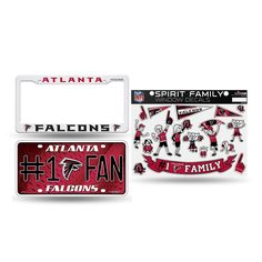 Atlanta Falcons NFL 3 Piece Auto Family Pack