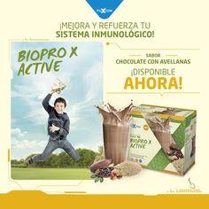 BioPro X Active  ¡NUEVO Sabor a Chocolate con Avellanas Disponible Ya! Mejora y refuerza tu sistema inmunológico con nuestras nuevas proteínas 100% veganas, deleitando tus sentidos mientras disfrutas de una vida más saludable. ¡COMPRA LAS TUYAS HOY!