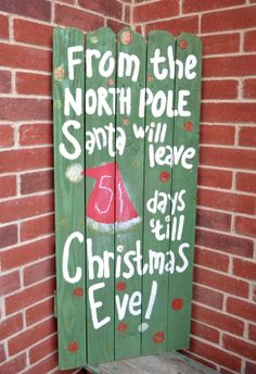 Christmas Outdoor Countdown Sign by GiftsbyGaby on Etsy