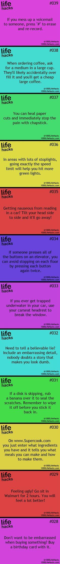 godd life hacks