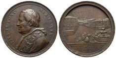 AE-Medaille o.J. AN XXX (1875/76) von F. Bianchi. Auf die Erbauung eines Armenhauses Coins, Personalized Items, Vatican, Rooms