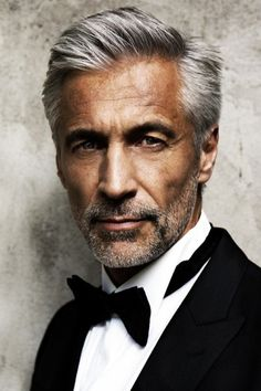 3. Old Age -- Middle Aged This is a middle aged man, tanned skin, and beautiful silver hair. He looks sharp!