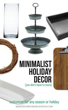 minimalist holiday decor that you don't have to store - just customize base items as part of your regular decor for each holiday or season | diy christmas design idea