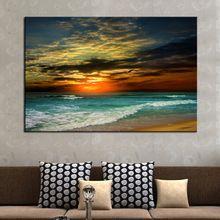 1 peça Hot vender mar à noite parede casa moderna arte da lona decoração pintura HD de impressão pintura da lona imagem pintura de parede(China (Mainland))