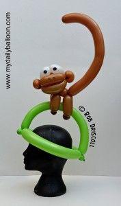 Sombrero mono con globos   -   Monkey Hat                                                                                                                                                                                 More