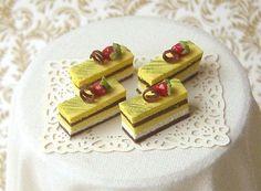 Dollhouse Miniature 1/12 Scale Mango Chocolate Slice Cakes… | Flickr