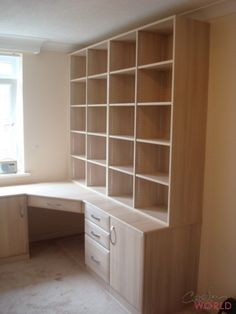 Fitted wardrobes into a sloping ceiling  Fitted home office
