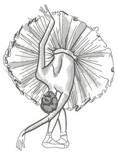Supreme Best Stitches In Embroidery Ideas. Spectacular Best Stitches In Embroidery Ideas. Ballet Drawings, Dancing Drawings, Pencil Art Drawings, Easy Drawings, Drawing Sketches, Sketching, Ballerina Sketch, Ballerina Art, Ballet Art