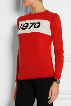 Bella Freud | 1970 intarsia wool sweater | NET-A-PORTER.COM