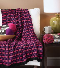 Love the colors in this honeycomb throw!