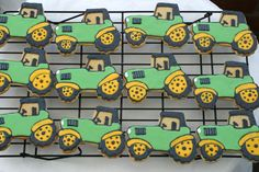Tractor cookies, made for a farm shop