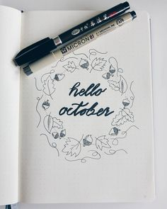 "79 Likes, 5 Comments - My Bullet Journal (@bujosweden) on Instagram: ""Hello october"""